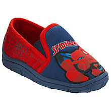 Buy Spider-Man Action Slippers, Blue/Red Online at johnlewis.com