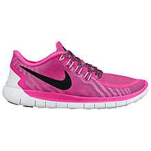 Buy Nike Free 5 Sports Shoes, Pink Online at johnlewis.com