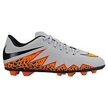 Buy Nike HyperVenom Phade II Football Boots, Grey/Orange Online at johnlewis.com