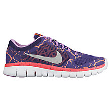 Buy Nike Flex RN Sports Shoes, Purple/Orange Online at johnlewis.com