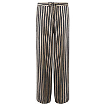 Buy Jigsaw Stripe Silk Pyjama Trousers, Neutral/Multi Online at johnlewis.com