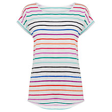 Buy Oasis Stripe Boyfriend T-Shirt, Multi Online at johnlewis.com