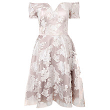 Buy True Decadence Organza Bardot Dress, Grey / Cream Online at johnlewis.com