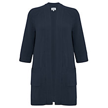 Buy Jigsaw Long Patch Pocket Cardigan, Navy Online at johnlewis.com