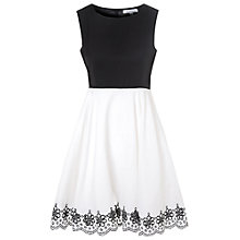 Buy True Decadence Embroidered Dress, Black/White Online at johnlewis.com