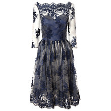 Buy True Decadence Sheer Lace Dress, Nude Navy Online at johnlewis.com