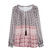 Buy Mango Geometric Print Blouse, Multi Online at johnlewis.com