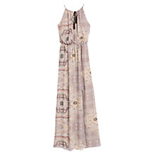 Buy Mango Flowy Printed Dress, Light Beige Online at johnlewis.com