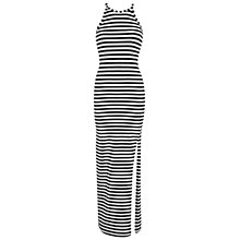 Buy Miss Selfridge Lace Back Maxi Dress, Black Online at johnlewis.com