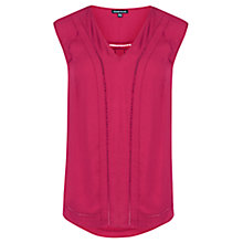 Buy Warehouse Pretty Insert Top, Raspberry Online at johnlewis.com