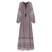 Buy Mango Long Printed Dress, Natural White Online at johnlewis.com