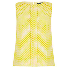 Buy Warehouse Basket Weave Lace Top, Sunflower Online at johnlewis.com