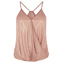 Buy Warehouse Metallic Bubble Hem Cami Top, Spice Online at johnlewis.com
