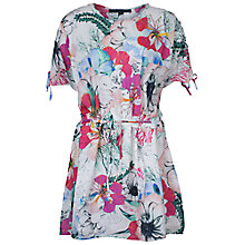 Buy French Connection Tie Printed Dress, White Multi Online at johnlewis.com