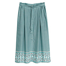 Buy Mango Flowy Printed Skirt, Turquoise/Aqua Online at johnlewis.com