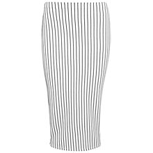 Buy Miss Selfridge Stripe Pencil Skirt, Multi Online at johnlewis.com