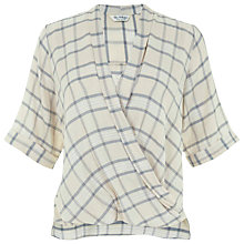 Buy Miss Selfridge Drape Blouse, Multi Online at johnlewis.com
