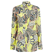 Buy Warehouse Paisley Printed Shirt, Yellow Online at johnlewis.com