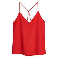 Buy Mango Spaghetti Strap Top, Orange Online at johnlewis.com