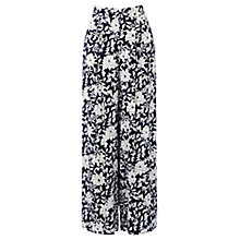 Buy Oasis Honey Flower Wide Leg Trousers, Multi Online at johnlewis.com