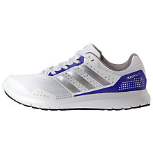 Buy Adidas Duramo 7 Women's Running Shoes, White/Silver Online at johnlewis.com