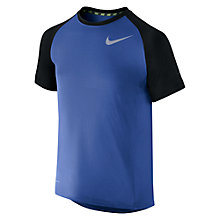 Buy Nike Boys' Miler Graphic Crew Running T-Shirt Online at johnlewis.com