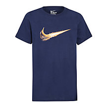 Buy Nike Boys' Swoosh Constant Crew T-Shirt Online at johnlewis.com