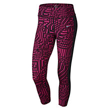 Buy Nike Epic Lux Printed 3/4 Running Tights, Vivid Pink/Black Online at johnlewis.com