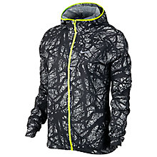 Buy Nike Enchanted Impossibly Light Running Jacket, Black/Volt Online at johnlewis.com