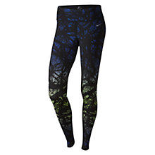 Buy Nike Engineered Enchanted Forest Printed Running Tights, Deep Royal Blue/Ghost Green Online at johnlewis.com