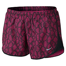 Buy Nike Modern Tempo Printed Running Shorts, Vivid Pink/Black Online at johnlewis.com