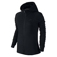 Buy Nike Tech Fleece Windrunner Full-Zip Jacket, Black Online at johnlewis.com