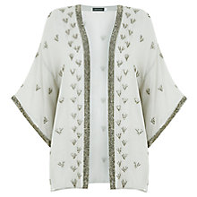 Buy Mint Velvet Embellished Kimono, Lichen Online at johnlewis.com