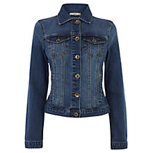 Buy Oasis Marley Denim Jacket, Dark Wash Denim Online at johnlewis.com