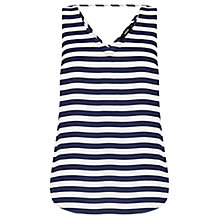 Buy Oasis Stripe Vest, Multi Blue Online at johnlewis.com
