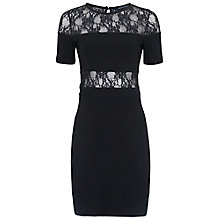 Buy French Connection Linear Wrap Dress, Black Online at johnlewis.com