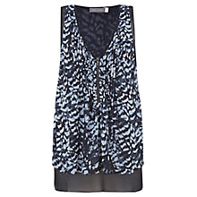Buy Mint Velvet Sara Print Zip Front Top, Multi Online at johnlewis.com