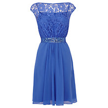 Buy Coast Lori Lee Lace Short Dress, Sky Online at johnlewis.com