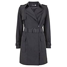 Buy Mint Velvet Zip Trench Coat, Grey Online at johnlewis.com