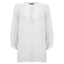 Buy Mint Velvet Spot Blouse, Ivory / Dove Online at johnlewis.com