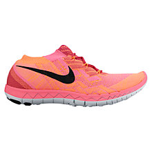 Buy Nike Free 3.0 Flyknit Women's Running Shoe, Pink/Black Online at johnlewis.com