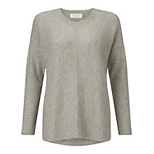 Buy Collection WEEKEND by John Lewis Rib Front Cashmere Jumper Online at johnlewis.com