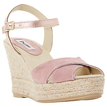 Buy Dune Koopa Wedge Heeled Espadrille Sandals, Nude Suede Online at johnlewis.com