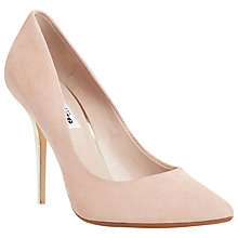 Buy Dune Bonni Suede Pointed Court Shoes, Blush Online at johnlewis.com