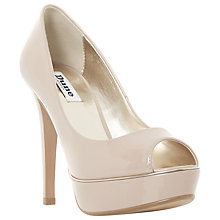 Buy Dune Daviner Peep Toe Platform Court Shoes, Blush Online at johnlewis.com