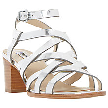Buy Dune Iliana Leather Multi Strap Block Heel Sandals Online at johnlewis.com