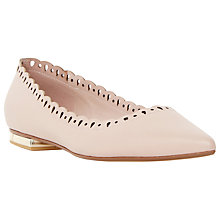 Buy Dune Alexis Flat Leather Pumps, Blush Online at johnlewis.com