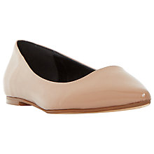 Buy Dune Amerie Flat Toe Point Pumps, Taupe Online at johnlewis.com