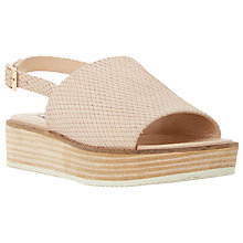 Buy Dune Lonzo Reptile Effect Leather Flatform Slingback Sandals Online at johnlewis.com