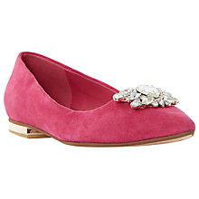 Buy Dune Beaux Bejewelled Pointed Pumps, Raspberry Online at johnlewis.com